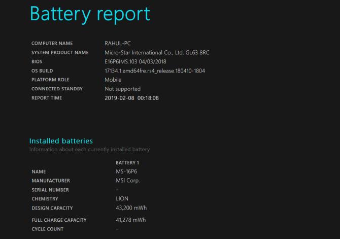 如何在Windows和Mac上查看笔记本电脑的电池周期计数