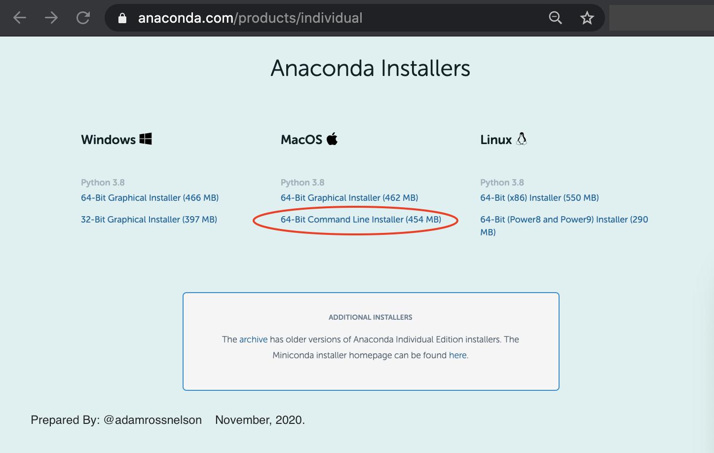 两步免费安装Glitch Free Anaconda Mac
