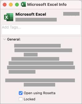 将Office for Mac与Rosetta和Apple芯片配合使用