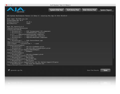 AJA系统测试 准确测试系统性能