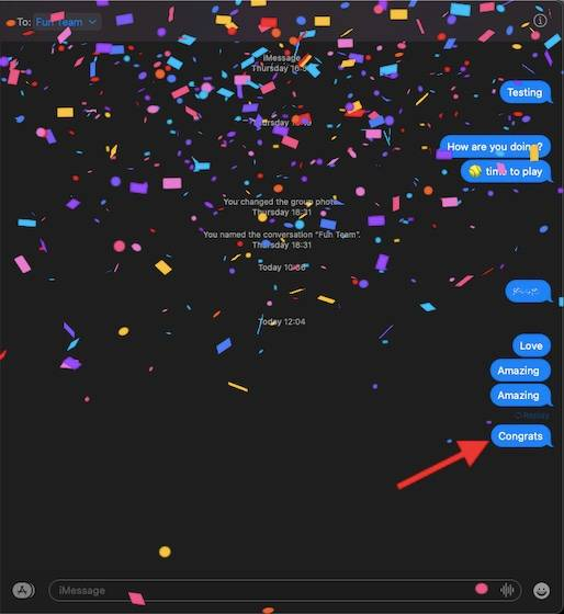 如何在macOS Big Sur中使用iMessage效果