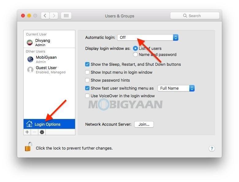 如何在Mac上自动登录到桌面