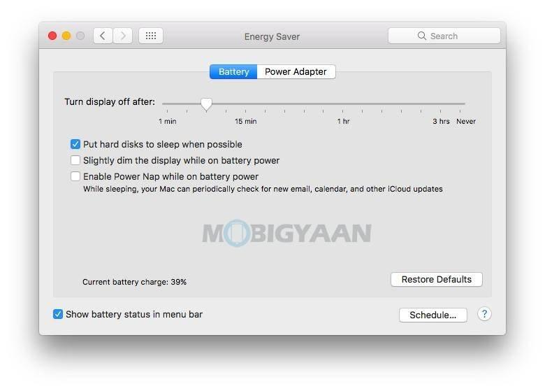 如何通过调整节能器设置来延长MacBook上的电池寿命