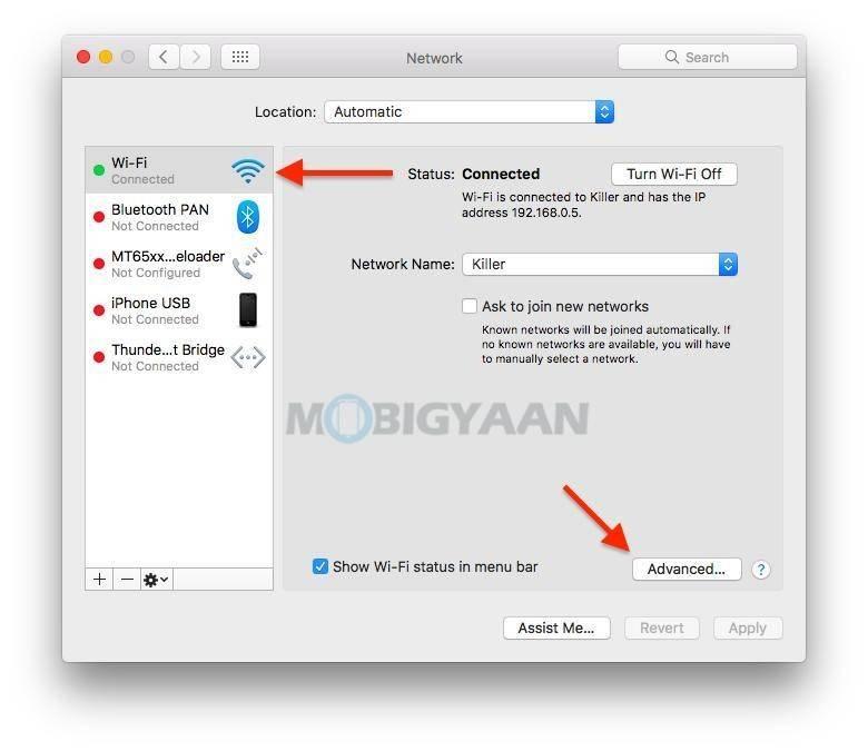 如何在Mac上停止自动保存Wi-Fi网络