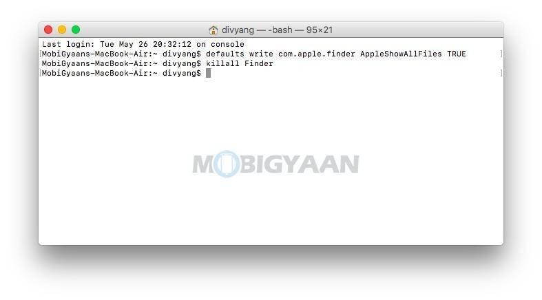 如何在Mac上查看隐藏的文件和文件夹