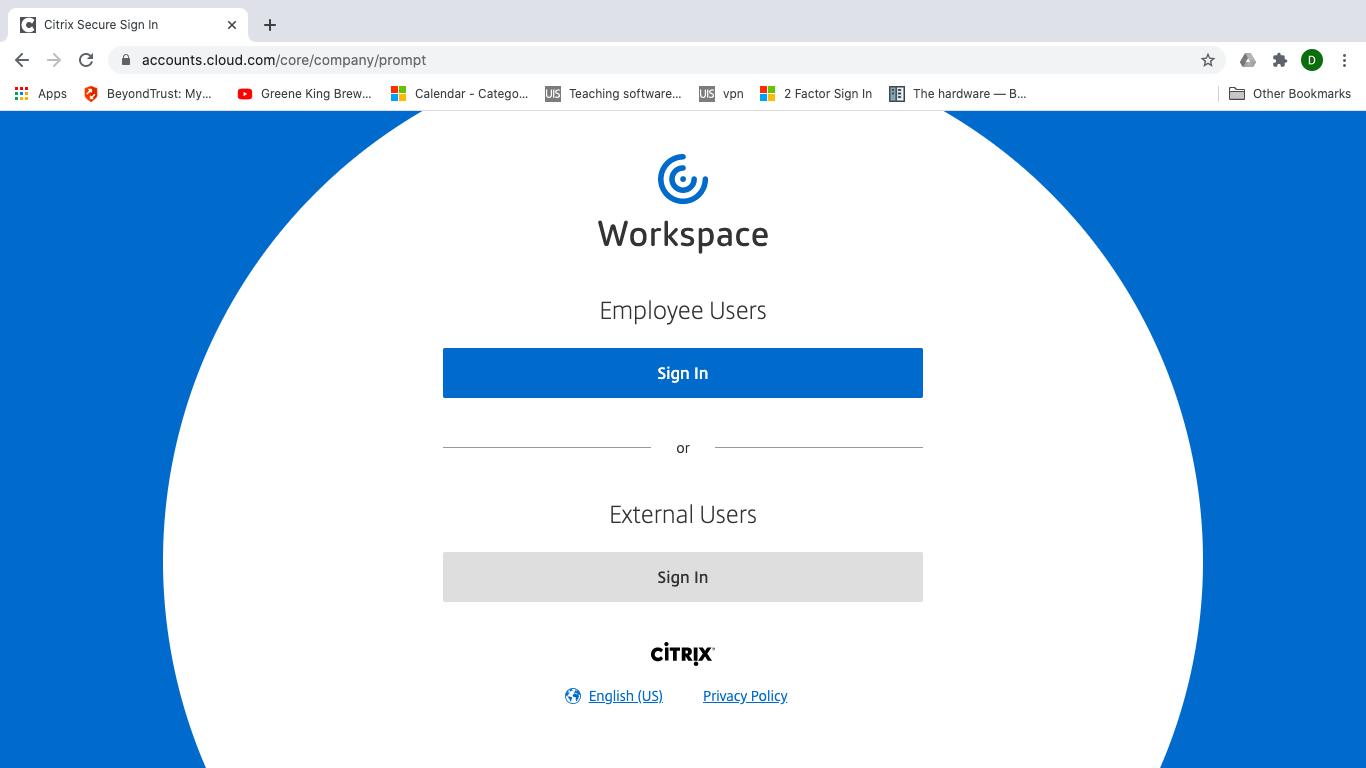 在Web浏览器中使用Citrix Workspace