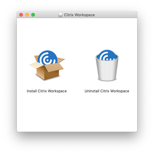 安装Citrix Workspace应用(macOS)