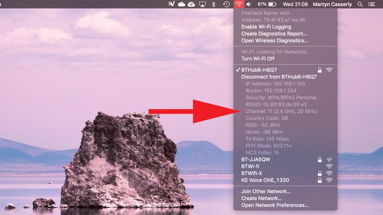 如何在Mac上切换到Wifi 5GHz