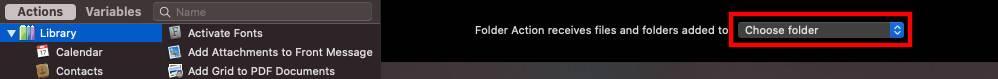 如何在macOS中创建图像转换文件夹