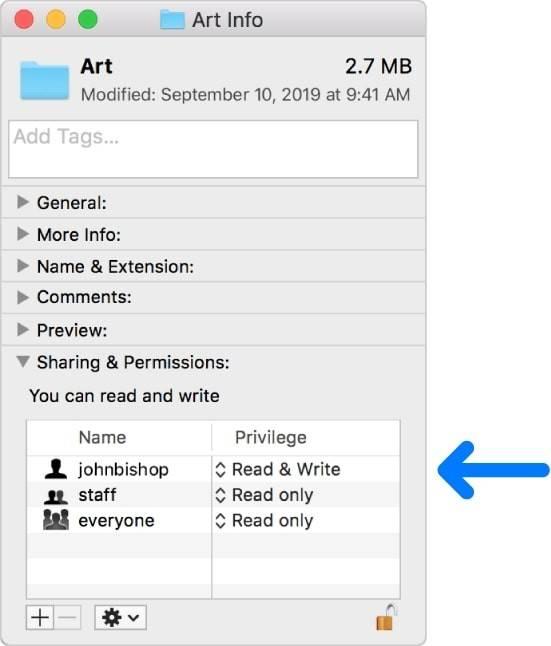 如何在macOS中管理文件权限