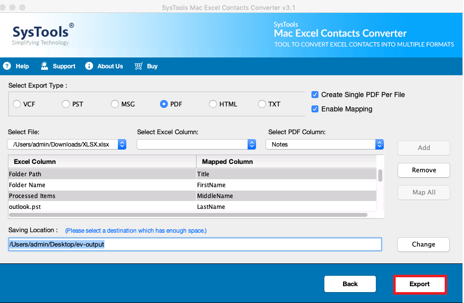 如何在Mac上将联系人从Excel保存为PDF格式