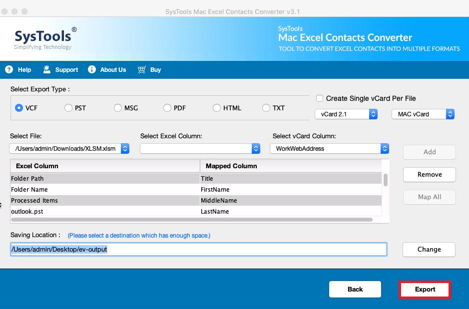如何在Mac上将Excel文件转换为vCard格式-一种快速方法