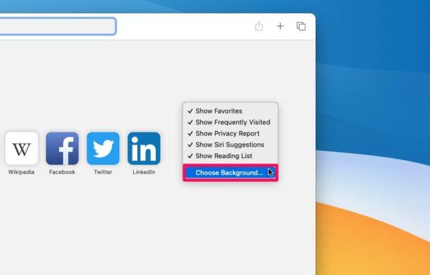 如何在MacOS中更改Safari背景图像