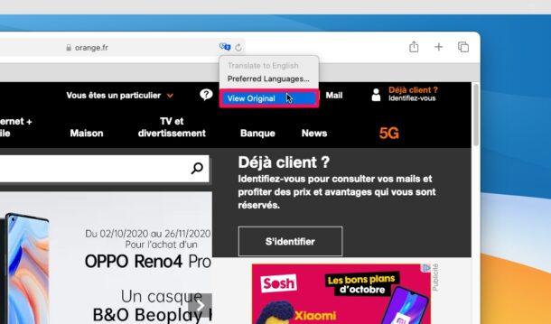 如何在Mac版Safari中使用翻译网页