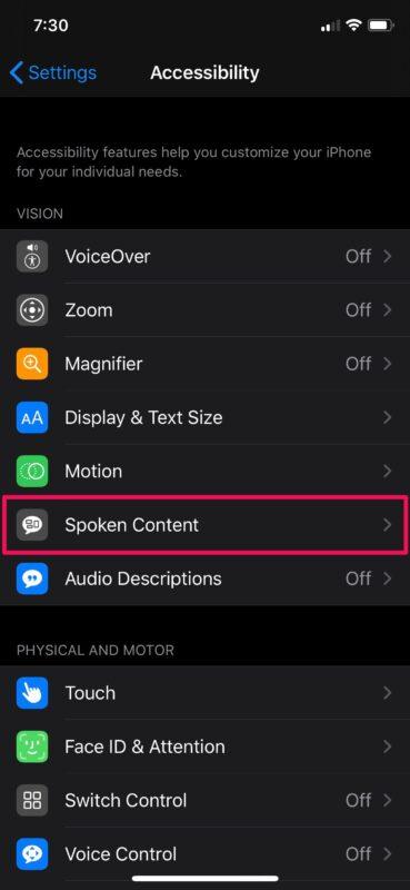 如何在iPhone和iPad上使用语音选择
