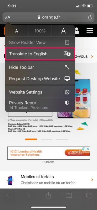 如何在iPhone和iPad上的Safari中翻译网页