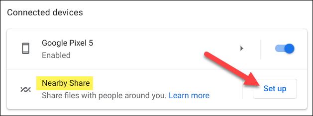 如何在 Chromebook 上使用 Nearby Share