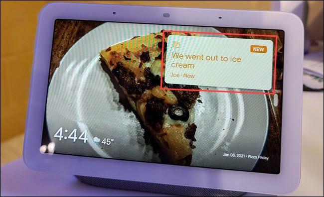 如何在 Google Nest Hub 上留下家庭笔记