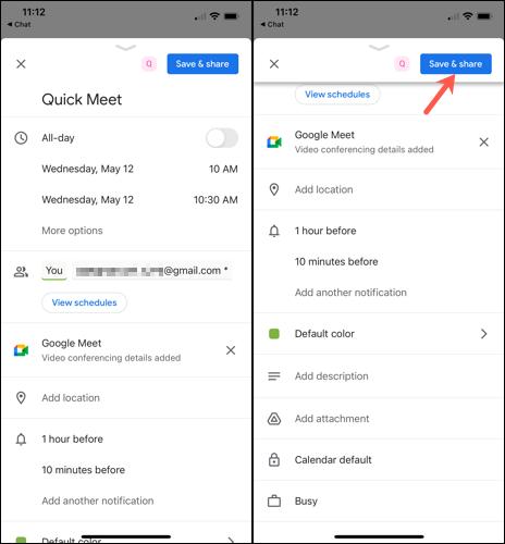 如何在 Google Chat 中安排 Google 日历活动