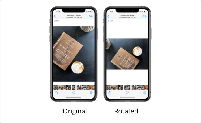 如何在 iPhone 和 iPad 上旋转图片