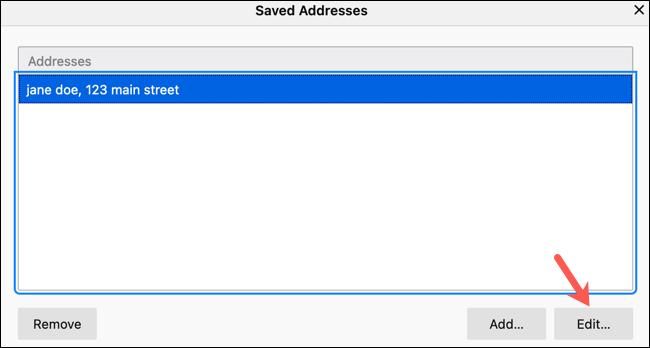 如何在 Firefox 中使用和编辑表单的自动填充
