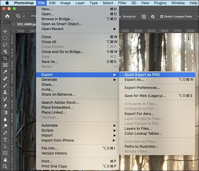 如何设置和使用 Photoshop 的快速导出功能