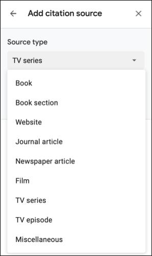 如何在 Google 文档中为电影、电视剧等添加引文