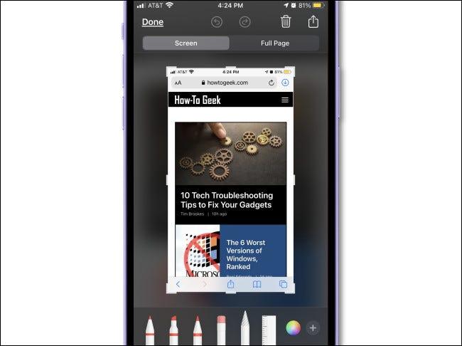 如何在 iPhone 12 上截屏