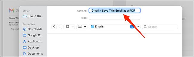 如何在 Gmail 中将电子邮件另存为 PDF
