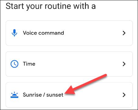 如何在 Android 上为日出或日落设置闹钟