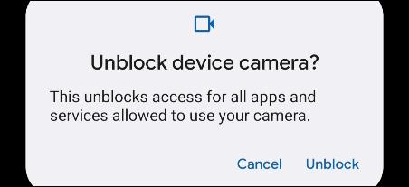 如何从 Android 的快速设置禁用麦克风和摄像头