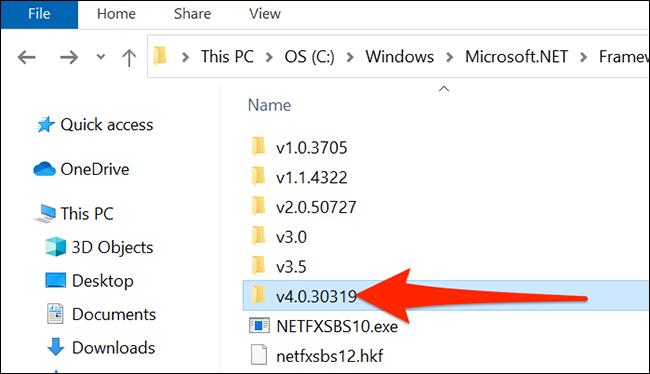 如何在 Windows 10 上检查 .NET Framework 版本