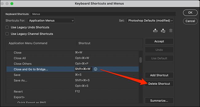 如何在 Photoshop 中更改键盘快捷键