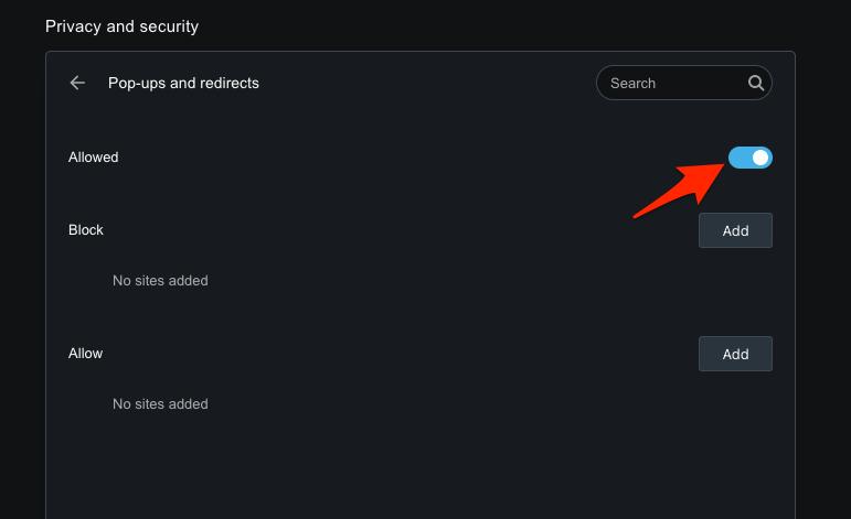 如何允许或阻止 Opera 上的弹出窗口和重定向?