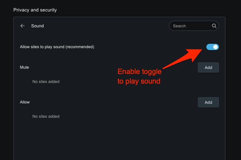 如何在 Opera 浏览器上允许或阻止声音访问?