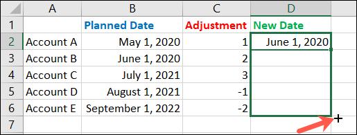 如何在 Microsoft Excel 中添加或减去日期