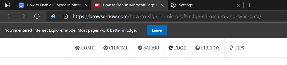 如何在 Microsoft Edge 中启用和使用 IE 模式?
