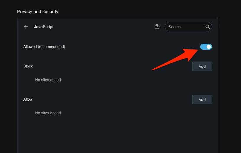 如何在 Opera 浏览器上允许或阻止 JavaScript?