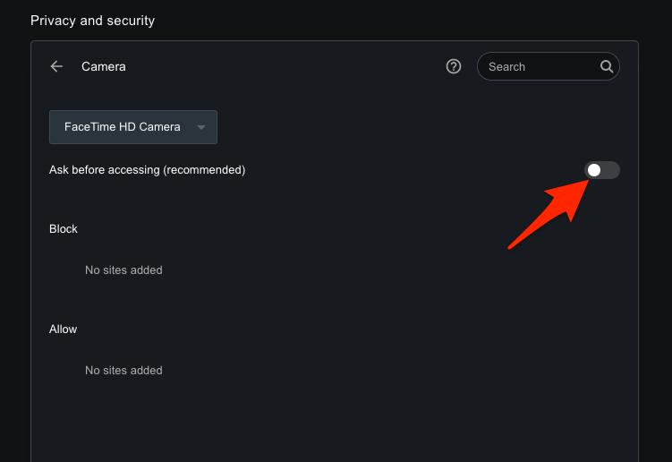 如何在 Opera 电脑上禁用相机和麦克风访问?