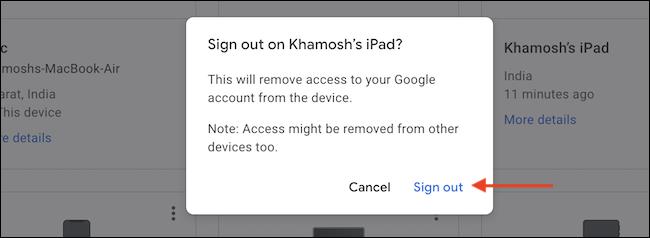 如何在丢失或丢失的设备上远程注销 Gmail