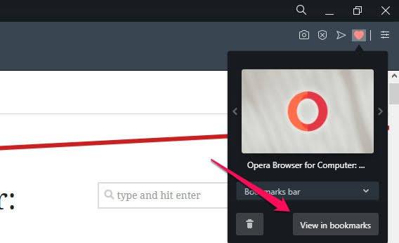 如何在 Opera 浏览器上添加书签和管理书签?