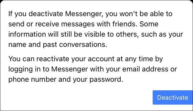 如何停用 Facebook Messenger