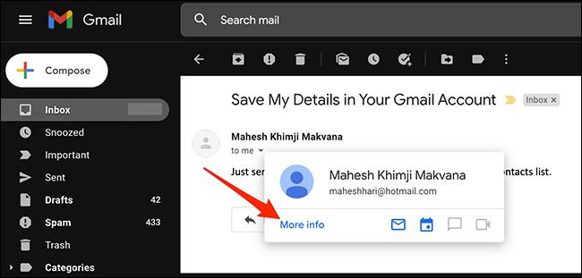 如何将联系人添加到 Gmail