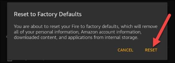如何重置 Amazon Fire 平板电脑