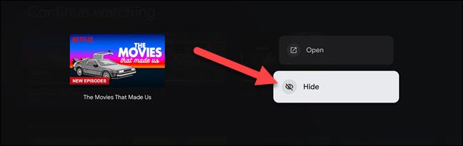 如何在 Google TV 中隐藏电影和电视继续观看