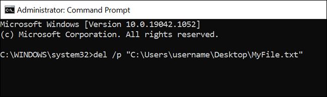 如何在 Windows 10 上使用命令提示符删除文件和文件夹