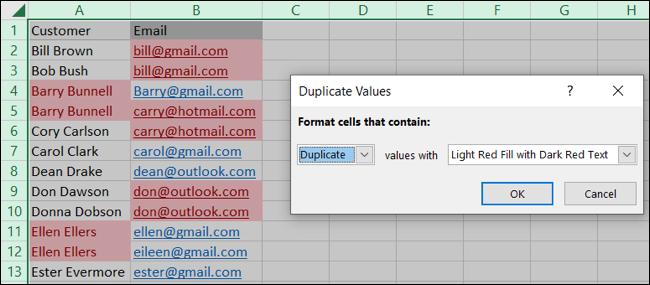 如何使用条件格式在 Excel 中查找重复数据
