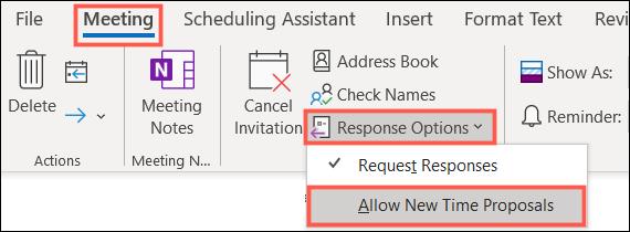如何在 Microsoft Outlook 日历中管理新的时间建议