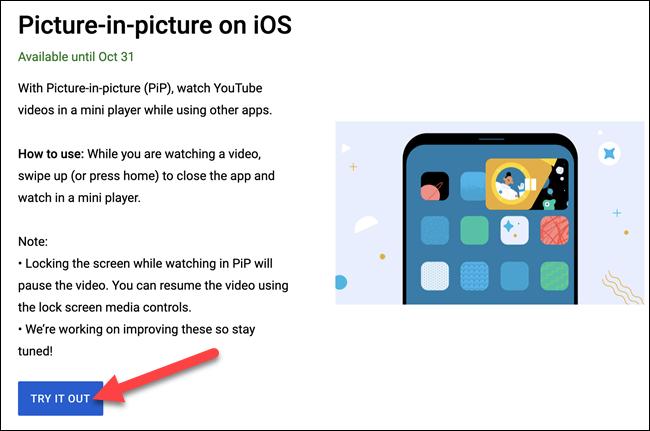 如何为 iPhone 开启 YouTube 画中画