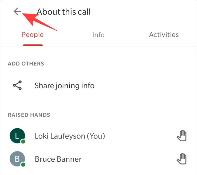 如何在 Google Meet 中举手